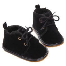 Bayi Balita Sepatu Musim Dingin Sepatu Bayi Baru Lahir Balita Boots 0-12 Bulan YEW3391 (Hitam)