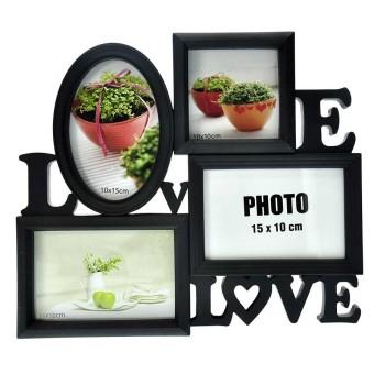 Inno Foto Bingkai Foto Plastik WS104 Love With 4x4, 4x6, .