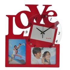 Beli Inno Foto Jam Dinding Kayu M2009A Love Diameter 24Cm With 4X6 6X4 Op Frame Merah Kredit