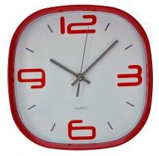 Inno Foto Jam Dinding Wall Clock Ym 7851C Merah Diskon Akhir Tahun