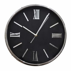 Jual Inno Foto Jam Dinding Ym 7514 Sweep Diameter 13 Inchi Black Silver Inno Foto Online