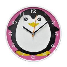 Inno Foto Jam Dinding YM-7524B Penguin Diameter 7.5 Inch - Pink