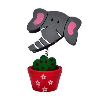 Inno Foto Photoclip Animal Grey Elephant 2.25x3.25 Inch Photo .