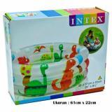 Harga Intex 57106 Baby Pool Dinosaur 3 Ring 61Cm X 22Cm Kolam Mandi Anak Intex Indonesia