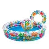 Intex Kolam Renang Anak 1 Set 1 32 M X 28 Cm Multicolor Original