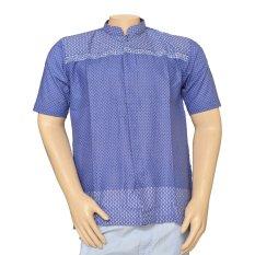 Jual Isbath Baju Koko Lengan Pendek Kdkp 46016 Biru Jawa Timur