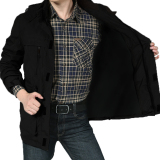 Review Jaket Pria Bomber Jacket Parka Style Hoodie Hitam Terbaru