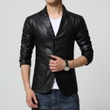 Top 10 Jaket Pria Leather Jacket Fit Style Hitam Online