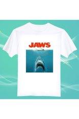 Jual Beli Online Jaws Movie Poster 100 Cotton O Neck Camiseta Unisex Lengan Pendek T Shirt