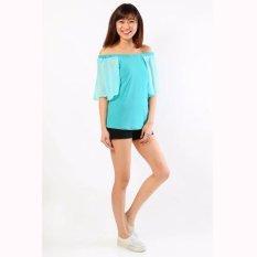 Spesifikasi Jfashion Blus Sifon Kombinasi Gaya Korea Model Sabrina Lily Terbaik