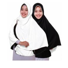 Review Jilbab Pricilla Bolak Balik 2In1 Black And White Ukuran M Indonesia