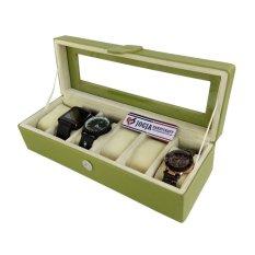 Jogja Craft BJ06GRCR Kotak Tempat Jam Tangan Isi 6 Hijau Cream