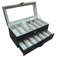 Jogja Craft - Black Cream Glasses Box Organizer - Kotak Tempat Kacamata Isi 12