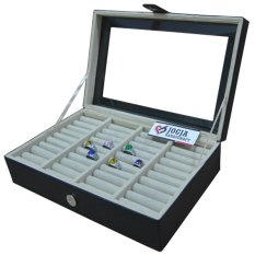 Jogja Craft - Black Cream Universal Ring Box Organizer - Kotak Tempat Cincin