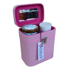 Jogja Craft Box Make Up / Kotak Make Up Beauty Case - Pink