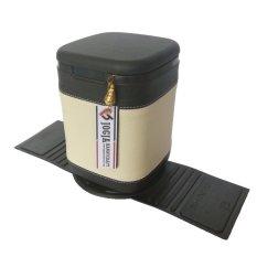 Jogja Craft BS01 Tempat Sampah Mobil Cover Kulit Sintetis Elegan - Hitam Cream