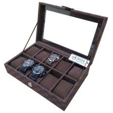 Jogja Craft Exclusive Large Size Kotak Jam Tangan Isi 10 Damier