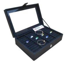 Jogja Craft - Full Black Universal Ring Box Organizer - Kotak Tempat Cincin