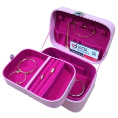 Jogja Craft JWC01PNK Jewelry Box With Traveller Case / Kotak Tempat Perhiasan dan Accesories [Pink]