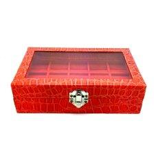 Jogja Craft Kotak Batu Akik / Box Cincin Batu Akik Kaca Crocodile Isi 15 - Orange