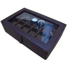 Jogja Craft - Kotak Jam Tangan Isi 12 Coklat