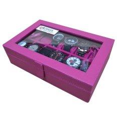 Jogja Craft - Kotak Jam Tangan Isi 12 Pink Fanta