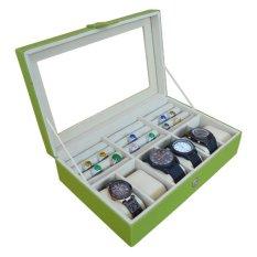 Jogja Craft Kotak Jam Tangan Isi 6 Mix Cincin - Hijau