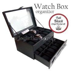 Jogja Craft Kotak Tempat Jam Tangan Susun Isi 24 - Hitam