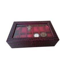 Jogja Craft Maroon Croco Kotak Jam Tangan Isi 12