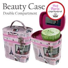 Jogja Craft NYB01PNKPRS Tas Makeup / Tas Kosmetik Motif Pink Paris