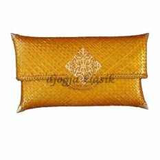 jogja Klasik Craft Clutch Anyaman Pandan Exclusive Medium - Golden