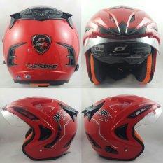 Spesifikasi Jpx Supreme Helm Solid Merah Size M Terbaru