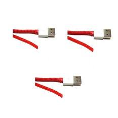 Kabel Paket Kabel Pelindung - Merah - 3 Pcs