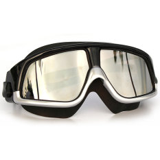 Kacamata Renang Large Frame Polarizing Anti Fog UV Protection - GOG-300 - Silver