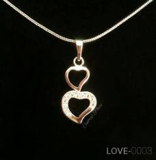 Kalung Korea Xuping Berliontin SILVER LOVE-0003