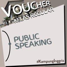 Kampung Inggris Public Speaking Reguler Kediri 2 minggu