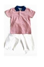 Ken Babyshop Premium Pastel Baju Setelan Boys Strip Pink