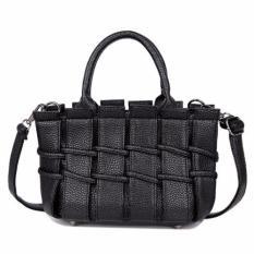Daftar Harga Kgs Tas Slempang Wanita Casual Woven Fence Shoulder Bag Hitam Kgs