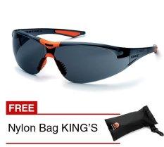 KING'S KY 8812 Kacamata Safety Smoke + Gratis Nylon Bags