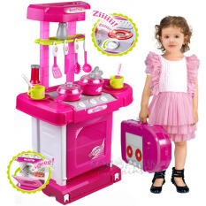 Kitchen Set Koper - Mainan Anak Perempuan Masak Masakan Lengkap