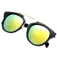 Harga Lady Wanita Outdoor Round Glass Metal Casing Full Frame Sunglasses Emas Lensa Di Tiongkok