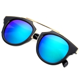 Iklan Lady Women S Outdoor Round Glass Metal Casing Full Frame Sunglasses Green Lens