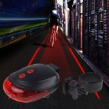 Jual Lampu Laser Sepeda Belakang Bike Cycling Bicyle Tail Light Laser 5Led 2Laser Flashing Import
