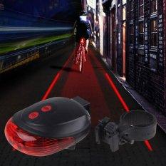 Harga Lampu Laser Sepeda Belakang Bike Cycling Bicyle Tail Light Laser 5Led 2Laser Flashing Di Dki Jakarta
