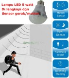 Spesifikasi Lampu Led 5 Watt With Sensor Gerak Motion Baru