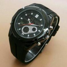Beli Lasebo Dual Time Jam Tangan Pria Rubber Strap Lsb 6225 Fb Terbaru