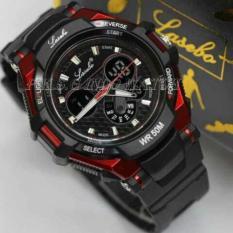 Katalog Lasebo Dual Time Jam Tangan Sport Pria Rubber Strap Lsb947425 Lasebo Terbaru