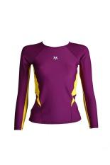 Lasona Baju Atasan Renang Wanita BRP-C2983-L4 Ungu- Kuning
