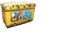 Review Pada Sepatu Kulit Folding Stool Stool Storage Kartun Waterproof Square Box Giraffe