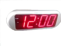 Beli Led Clock Jam Meja Digitime 1816 Led Merah Silver Led Clock
